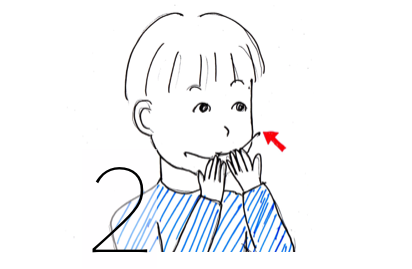 ヘッドギア装着方法2